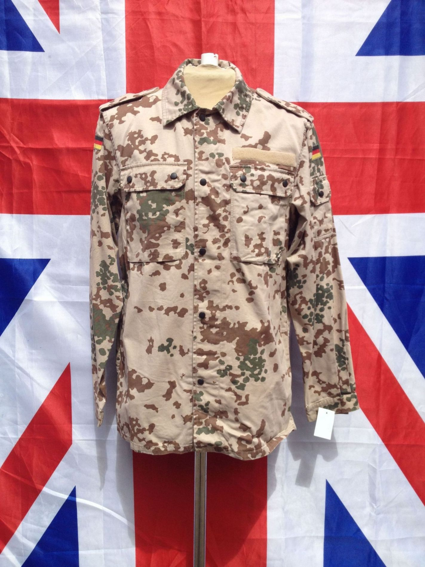 29feb08ae57e1 ... EX ARMY MILITARY GERMAN DESERT CAMO LIGHT WEIGHT JACKET; variant  attributes. 11111